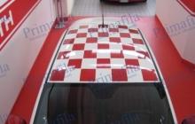 500 tetto scacchi - Decorazione automezzi parziale - Car wrapping