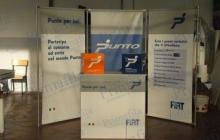 Fiat Punto Desk Banco e Fondale - Primafila Group Pubblicità ed Allestimenti