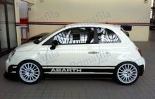 car wrapping auto abarth fascia