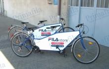fila tandem biciclette pubblicità