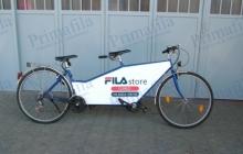 fila tandem bicicletta pubblicità