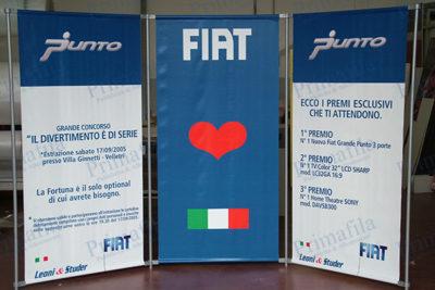 Fiat Punto Fondale - Espositore pubblicitario per stand