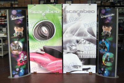 Vespa Scarabeo L Banner  - Espositore pubblicitario per stand
